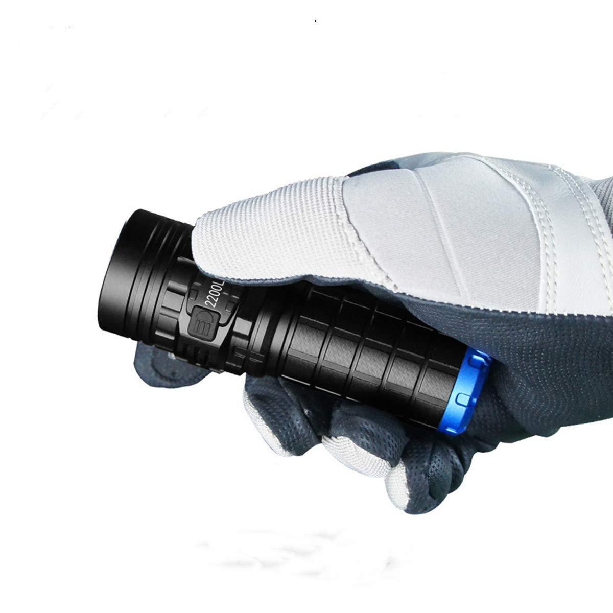 懐中電灯 IMALENT DN35 小型 ハンディライト 強力 爆光 フラッシュライト 最強輝度2200lm 連続点灯50時間 照射距離596m 4階段点灯+SOS/ビーコン 【5年間修理保証】 B07J53L89W