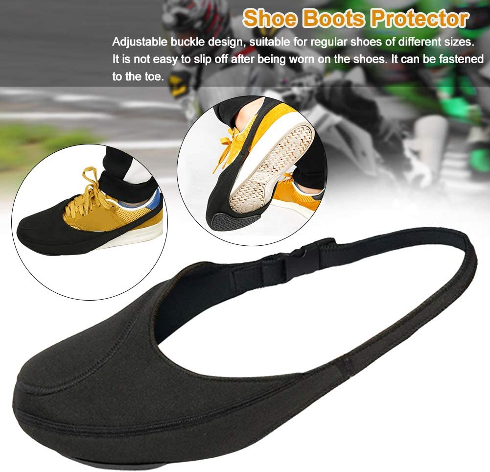 Anti Slip Shoe Boots Protector,Waterproof and Dirt-Resistant,Adjustable RICH Motorcycle Shifter Shift Pad Shoes Boots Cover Motorcycle Gear Shifter Shoe Boots Protector Cover