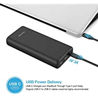 Charmast 20800mAh Power Bank w/ USB-C PD + Dual USB QC 3.0 Phone Battery Pack Power Delivery Power Bank Lightweight Compatible with iPhone, Samsung, Google Pixel