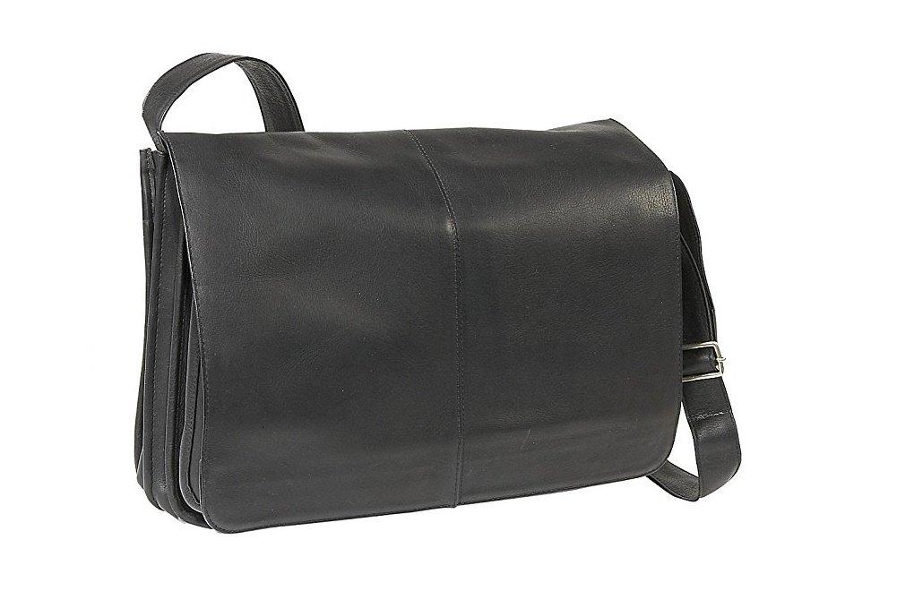 LeDonne Le Donne Leather Quick Access Messenger (Black) by LeDonne