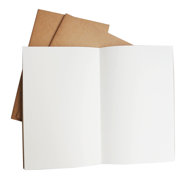 Pagine a Dot//Punto Ricariche per Libri di Viaggio Lotto di 3 Diari e Quaderni |21cm x 14cm A5 Diario Per notebook da Viaggio Ricaricabile Inserti di Ricambio per Diario di Viaggio