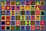 LA Rug Hebrew Numbers & Letters Rug 5'3″ x7'6 For Sale