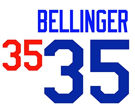 Cody Bellinger Los Angeles Dodgers Jersey Number Kit aa8479d98f3