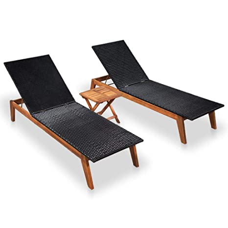 Admirable Amazon Com Festnight Patio Wood Chaise Lounge Chairs With Machost Co Dining Chair Design Ideas Machostcouk