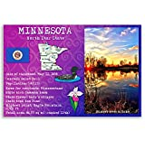 MINNESOTA STATE FACTS postcard set of 20 identical postcards. Post cards with MN facts and state symbols. Made in USA.