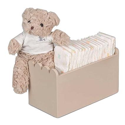 Canastilla regalo bebé Happy Caja Madera Pañales- BebeDeParis- Beige- cesta para bebé con