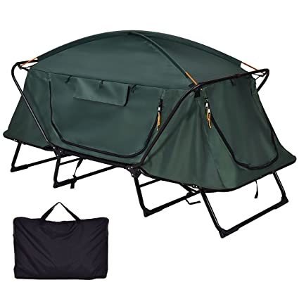 best service 3eef0 7542b Amazon.com : Folding 1 Person Elevated Camping Tent Cot ...