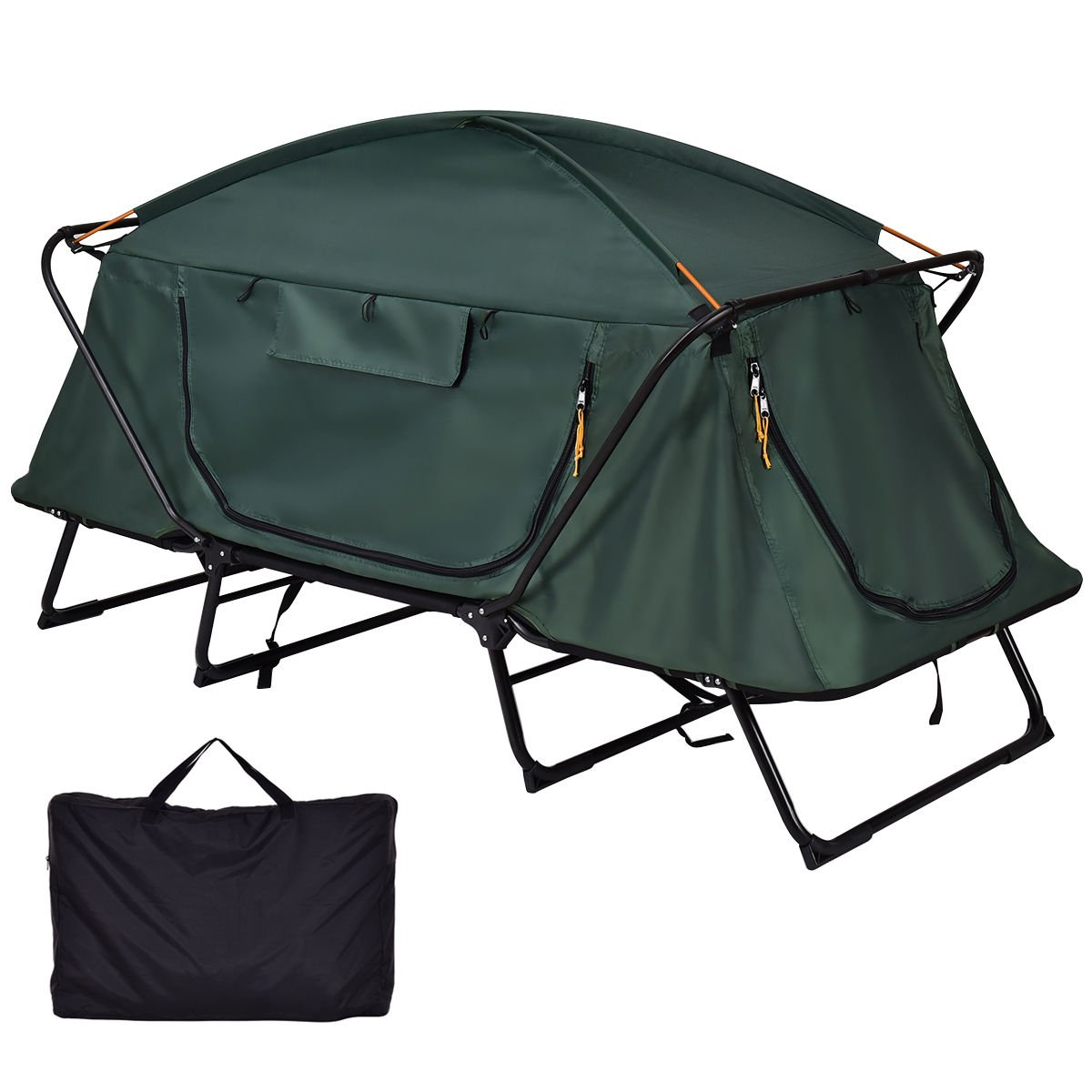 Tangkula Tent Cot Folding Waterproof 1 Person Hiking Camping Tent with Carry Bag by Tangkula (Image #2)