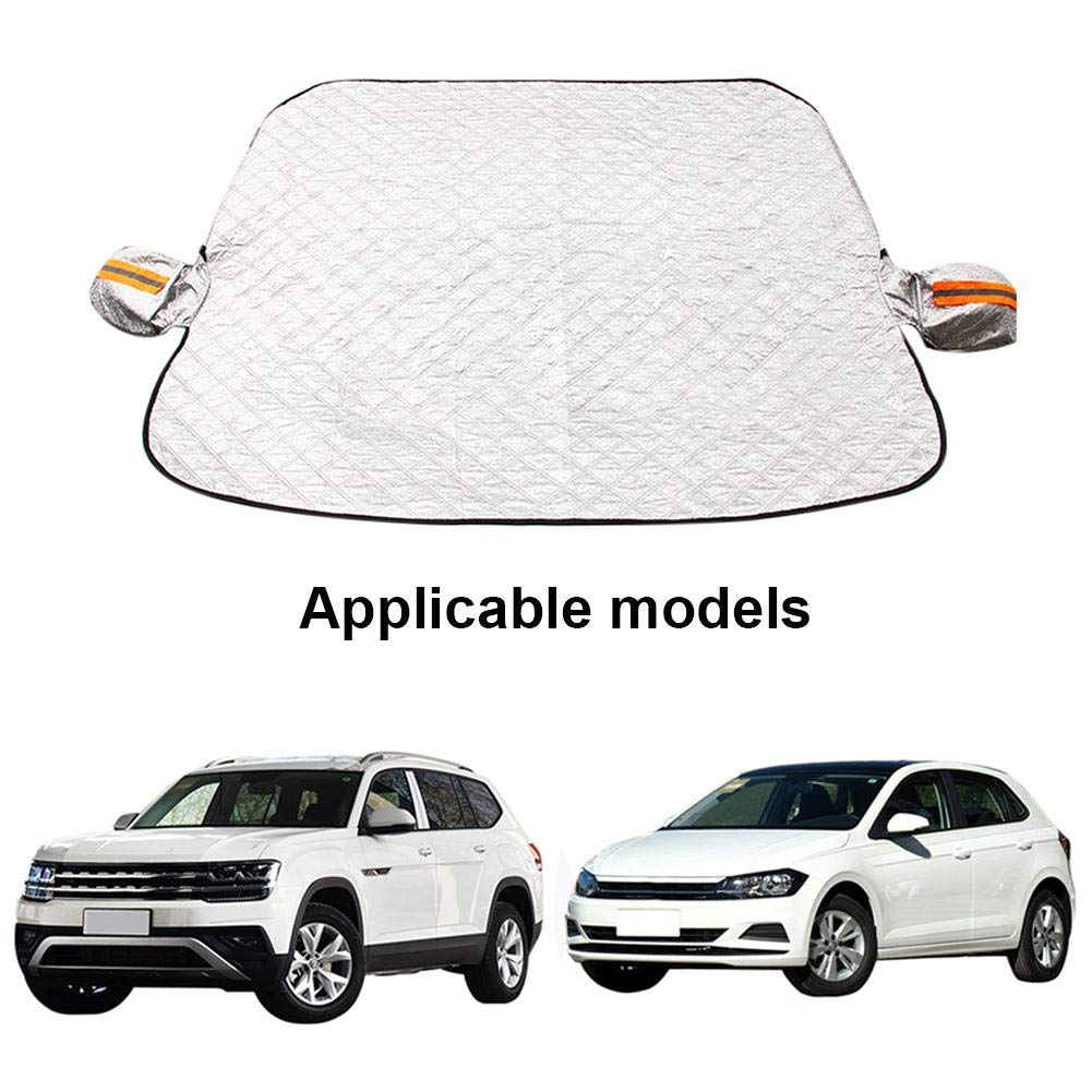 Windshield Snow Cover Front Windshield Cover with Mirror Covers Frost Guard Ice Snow Rain Removal All Weather Winter Summer Auto Sun Shade for Car SUV