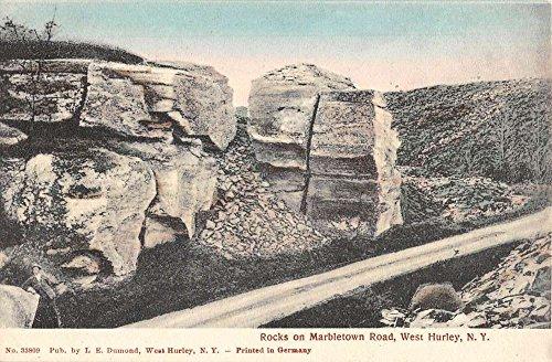 Hurley Rock - West Hurley New York Marbletown Road Rocks Antique Postcard K67563