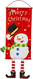 ZLY Christmas Pendant Merry Christmas Sign Door Banner Hanging Xmas Ornament Party Window Glass Decor for Shop Home Christmas Gadget