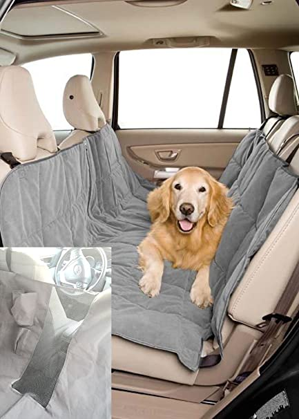 Duragear Pet Travel Hammock Dog Car Seat Cover Microvelvet Slate
