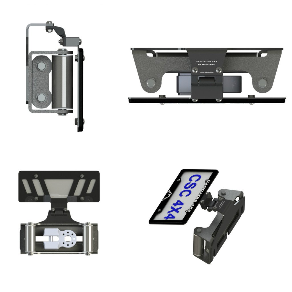 Cascadia 4x4 Flipster V2 - Winch License Plate Mounting system - Hawse/Roller fairlead compatible - Made in USA/Canada by Cascadia 4x4 (Image #7)