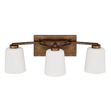 Amazon.com: CAPITAL iluminación 112031 – 323 Reid 3 luz baño ...