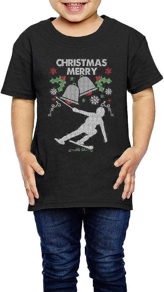 Merry Christmas Snow Ski 2-6 Years Old Kids Short Sleeve Tshirt
