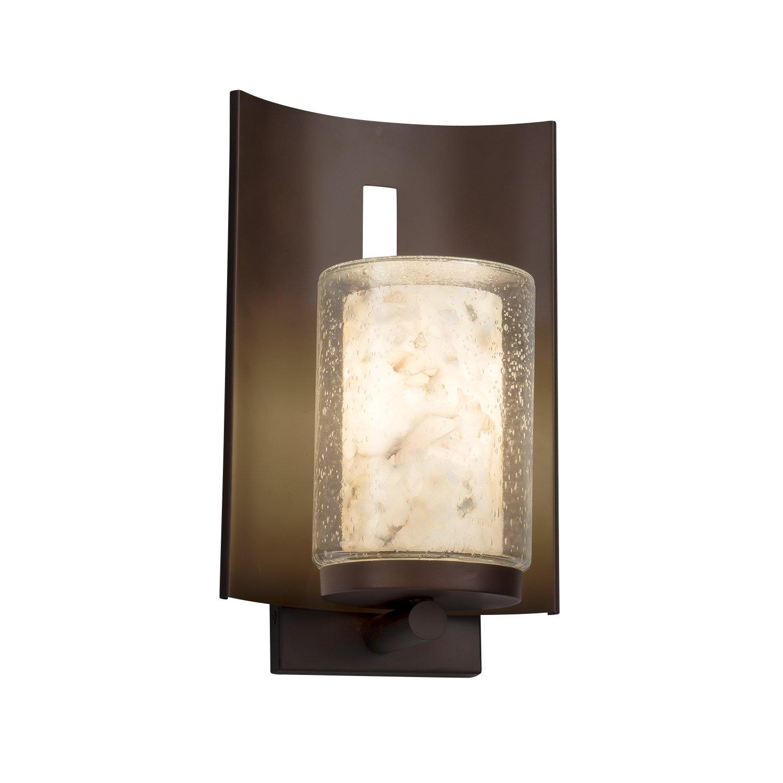 Alabaster rocks embark 1 light outdoor wall sconce cylinder