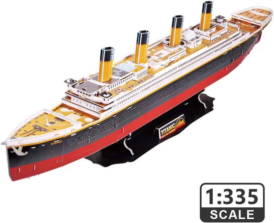 CubicFun-National Geographic 3D Puzzle Arquitectura Modelo Kit Juego Juguete para Construir Regalos (Titanic (Large))