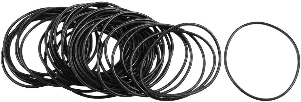 WOVELOT 10 Stueck Mechanische Schwarz NBR O-Ringe Oil Seal Unterlegscheiben 40 mm x 5 mm x 30 mm