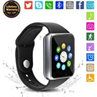 Bluetooth Smart Watch A1 - WJPILIS Touch Screen Smart Wrist Watch Smartwatch Phone with SIM Card Slot Camera Pedometer Sport Tracker for IOS iPhone Android Samsung LG for Men Women Child (Silver 2)