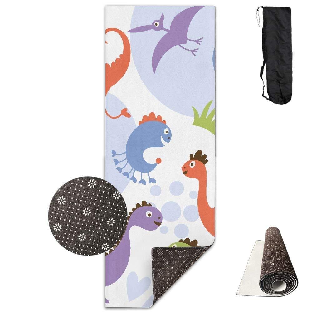 Cute Dinosaur Party Deluxe,Yoga Mat Aerobic Exercise Pilates Anti-slip Gymnastics Mats