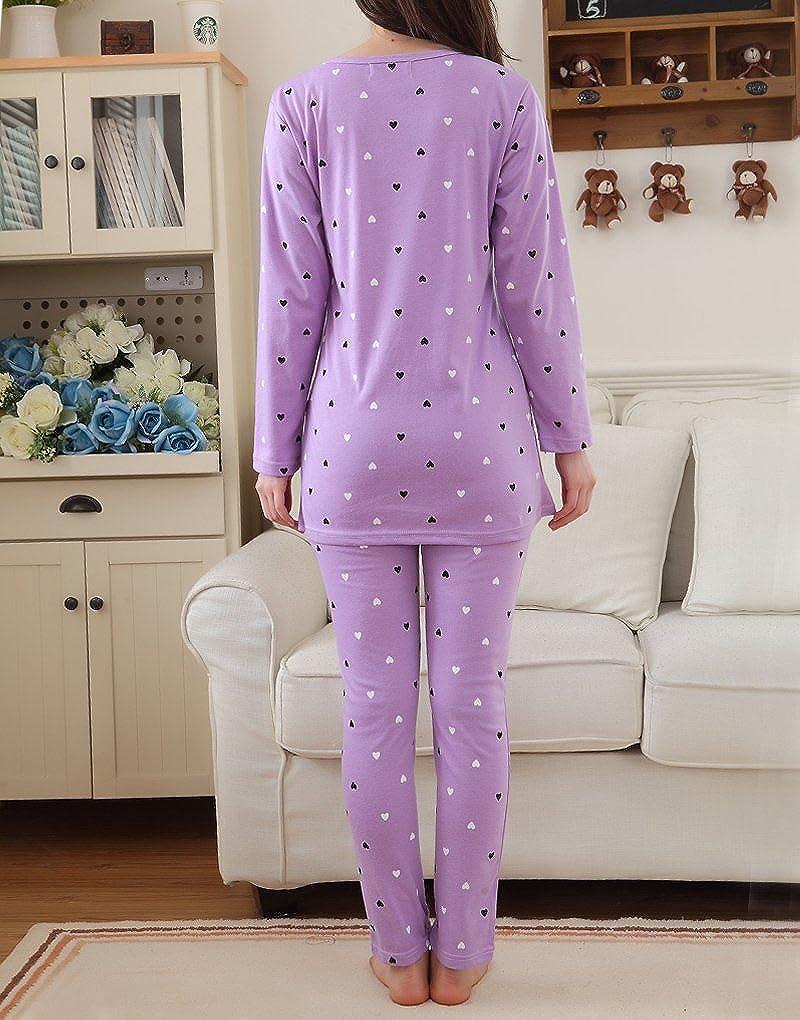 MyFav Girls Comfy Sleepwear Hearts Shape Pajama Set Sweet Dream Leisure Nighty