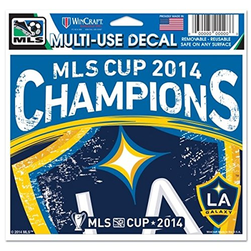 LA Galaxy Los Angeles 2014 MLS Cup Champions WinCraft Multi-Use Ultra Decal