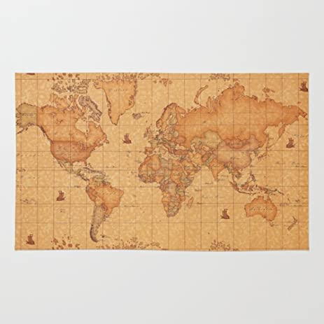 Amazon society6 world map leather rug 4 x 6 bogiatzi society6 world map leather rug 4 gumiabroncs Gallery