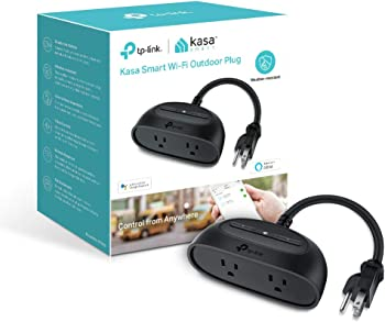 TP-Link Kasa KP400 Smart WiFi Outdoor Plug with 2 Outlets