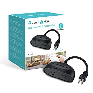 Kasa Smart WiFi Outdoor Plug by TP-Link– Smart Outlets, Outdoor Smart Plug, Works with Alexa & Google (KP400)