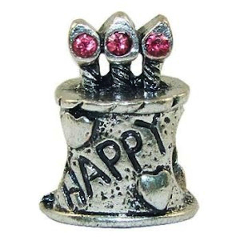 Tarta de cumpleaños y velas cuenta para pulsera para Pandora ...
