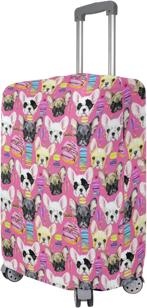 French Bulldog Puppy Travel Luggage Cover Suitcase Protector Fits 28-32 Inch Luggage
