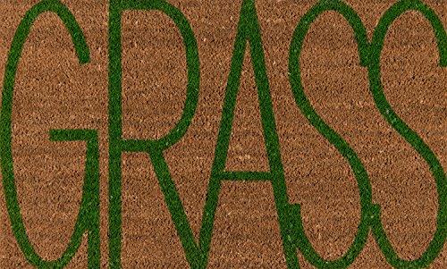 Novogratz by Momeni ALOHAALO17NAT1626 Aloha Collection Grass Door Mat, 1'6