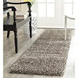 Safavieh Milan Shag Collection SG180-8080 Grey Runner (2' x 8')