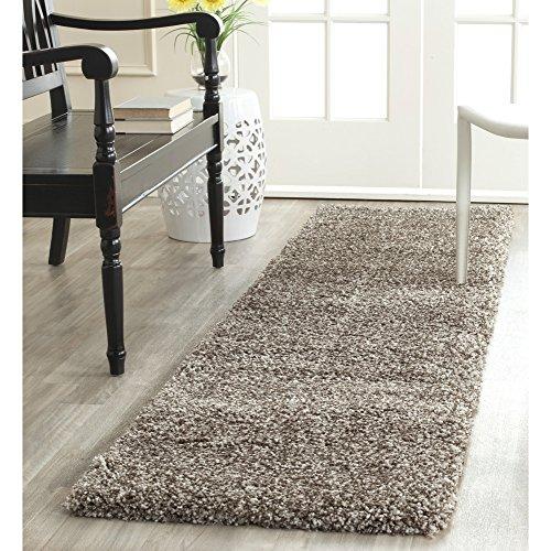 Safavieh Milan Shag Collection SG180-8080 Grey Runner (2' x 10') (Runner Hall Carpet)