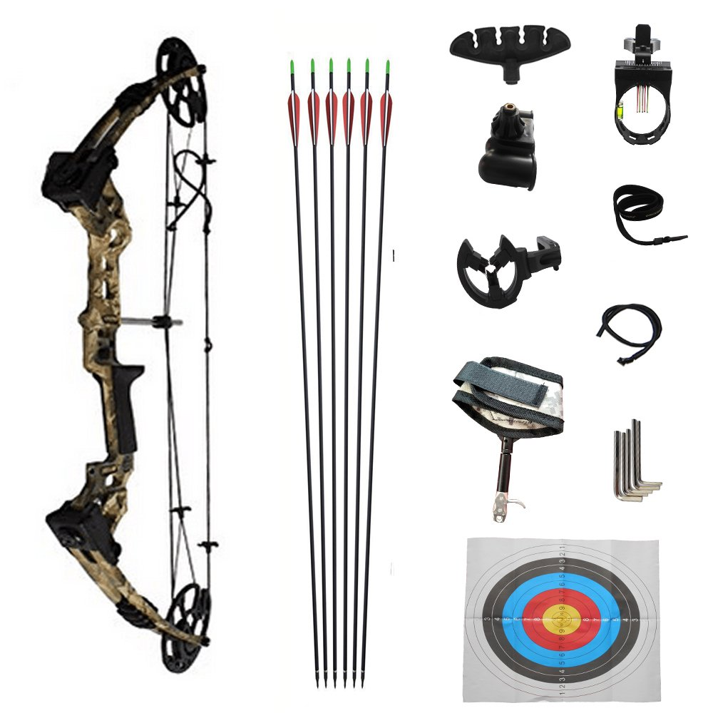 DLGLOBAL アーチェリー コンパウンドボウ 複合弓 狩猟弓 張力20-70lbs 迷彩