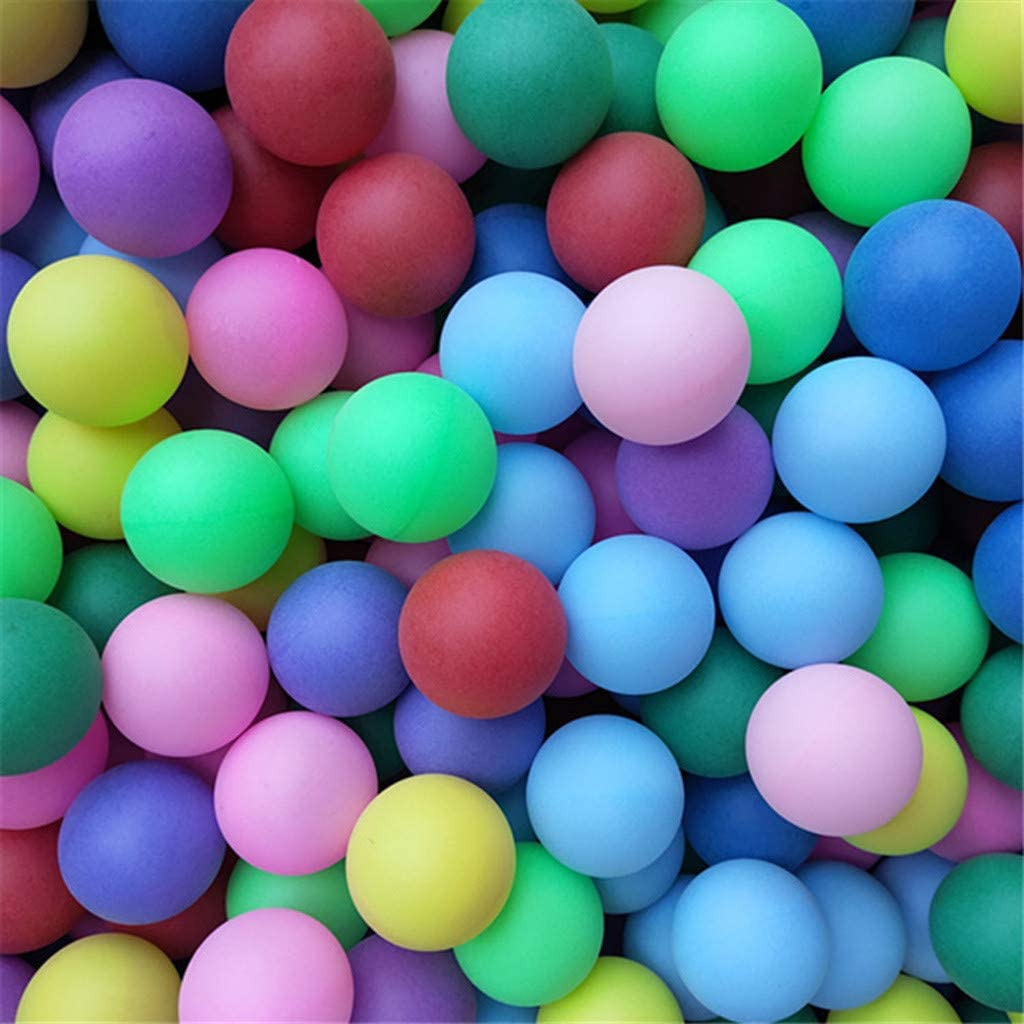 Colored Table Tennis Ping Pong Balls 50Pcs//Pack 40mm Entertainment Table Tennis Balls