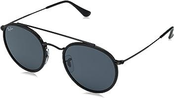 560310d7adb8fc Ray-Ban Herren Sonnenbrille RB3647N Black Solid Grey Sonnenbrille