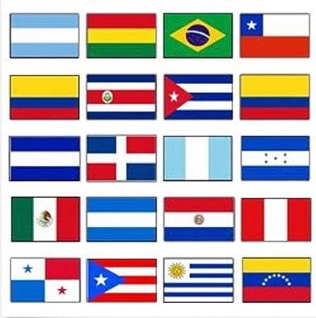 Amazon.com: Lovely999 Latinoamérica - Juego de banderas (2 x ...