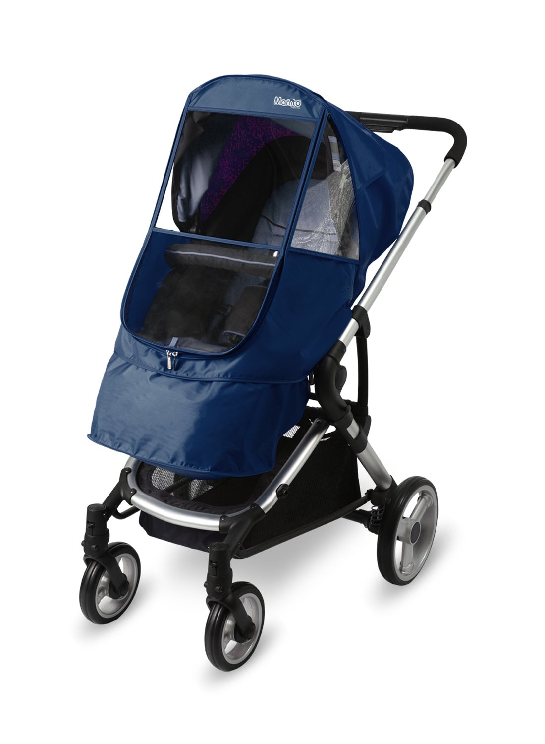 Manito Elegance Beta Stroller Weather Shield / Rain Cover - Navy EGCVB-49000