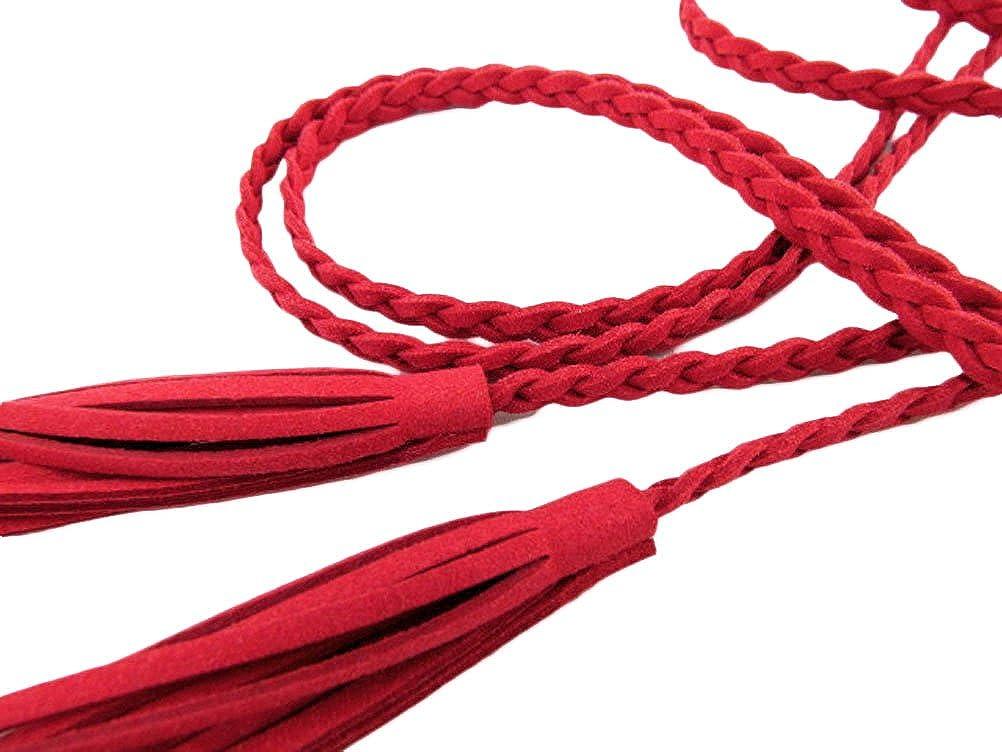 Nanxson Donna Moda decorativa maglia di vita del cuoio Catena corda cinghia con la nappa PDW0042