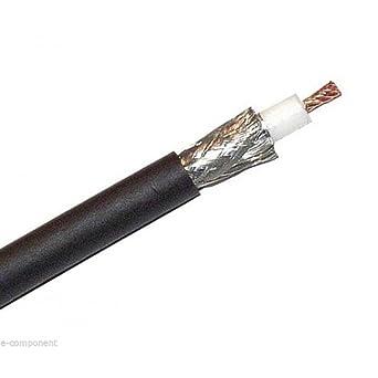 Cable coaxial Belden H155 doble apantallamiento a baja pérdida 50 Ohm (1 metro)