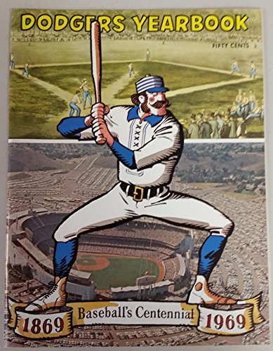 1969 Dodgers Yearbook (from Dodgers' manager Walter Alston's Personal Collection - LOA from Alston family) Near-Mint to Mint [Super clean, like new]