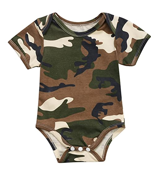 5ff0e55c4d63 Emmababy Unisex Infant Baby Girl Boys Short Sleeve Camouflage Romper  Bodysuit Outfit Clothes One Piece Jumpsuit