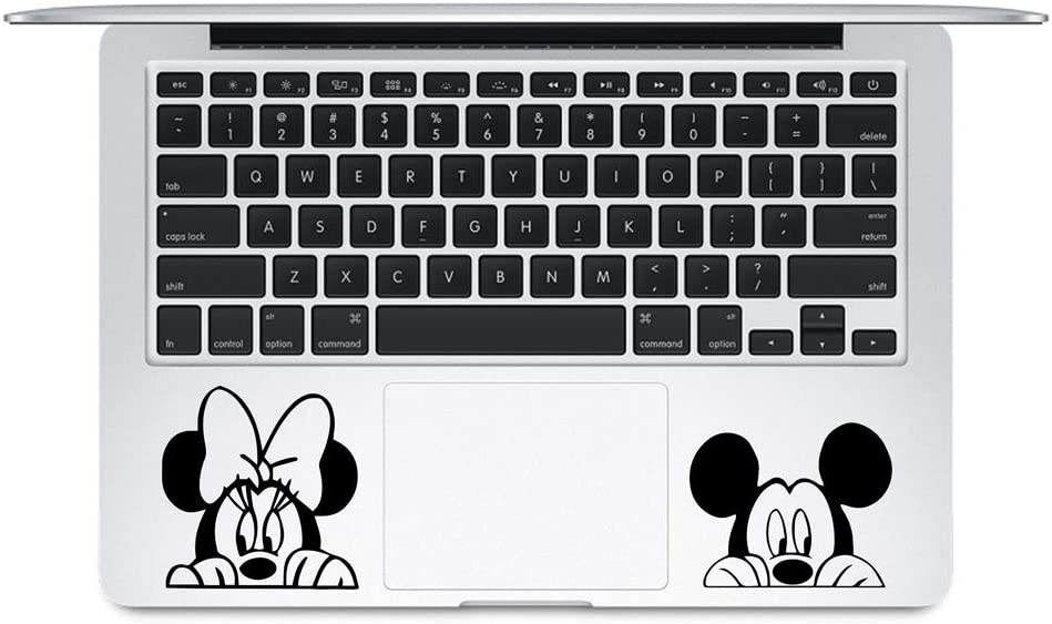 Peaking Mickey and Minnie Stickers for laptops MacBooks Cars or Any Smooth Surfaces