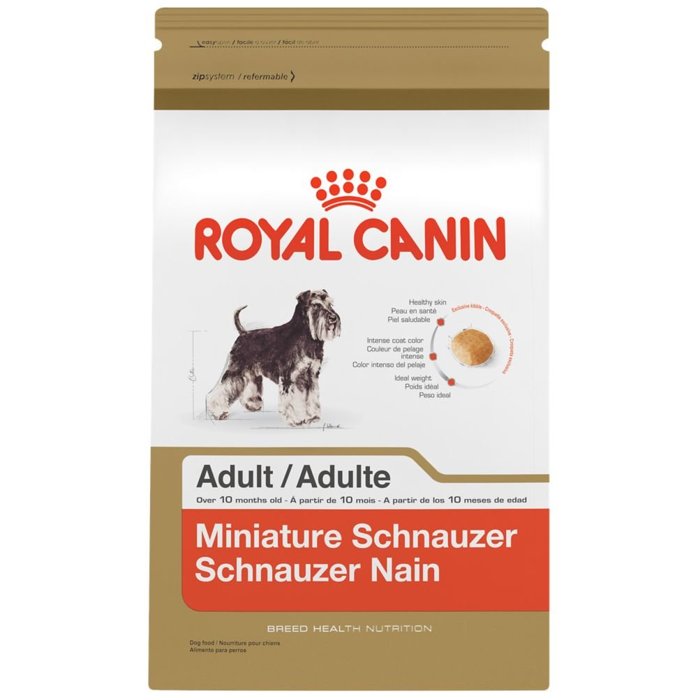 Royal Canin BREED HEALTH NUTRITION Miniature Schnauzer Adult dry dog food, 10-Pound
