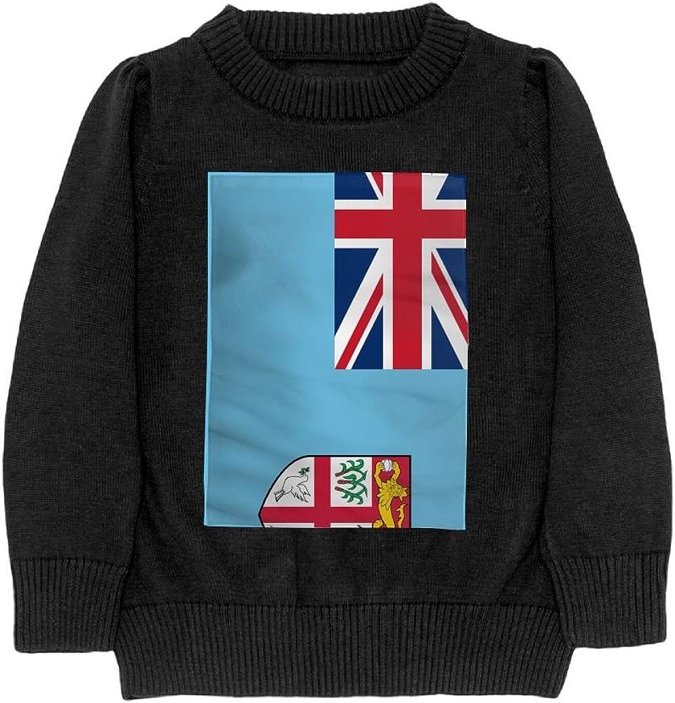 DTMN7 Flag of Fiji Teens Sweater Long Sleeves Crew-Neck Youth Athletic Casual Tee Junior Boys