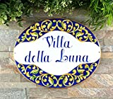 spanish style house 234Tiffany Talavera Wood House Plaque Custom Signs for Villa Spanish Style Home Decor