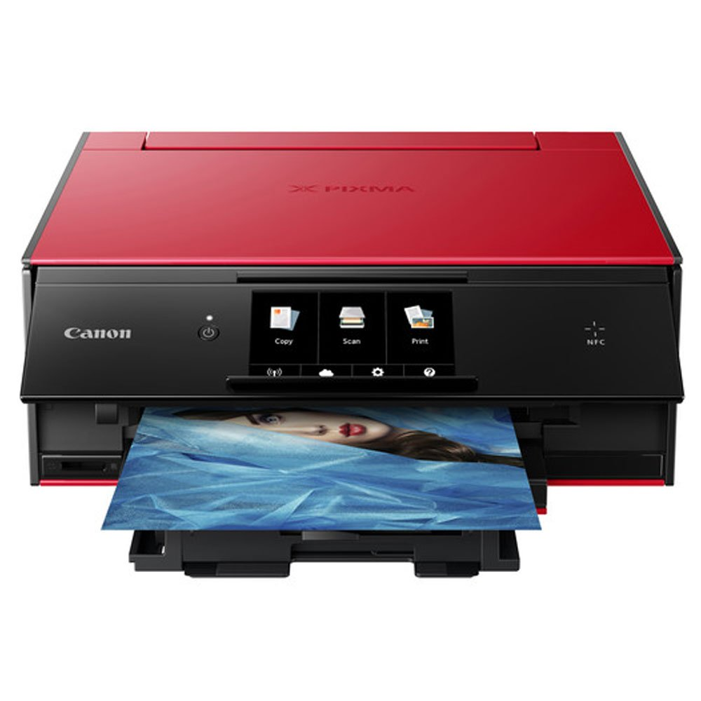 Canon PIXMA TS9020 Wireless All-in-One Inkjet Printer (Red) + Canon CLI-271 CMYK Ink Tank 4-Pack + Type A to Type B USB Cable + Super Dust Blower + Photo4Less Cleaning Cloth – Complete Printing Bundle by PHOTO4LESS (Image #2)