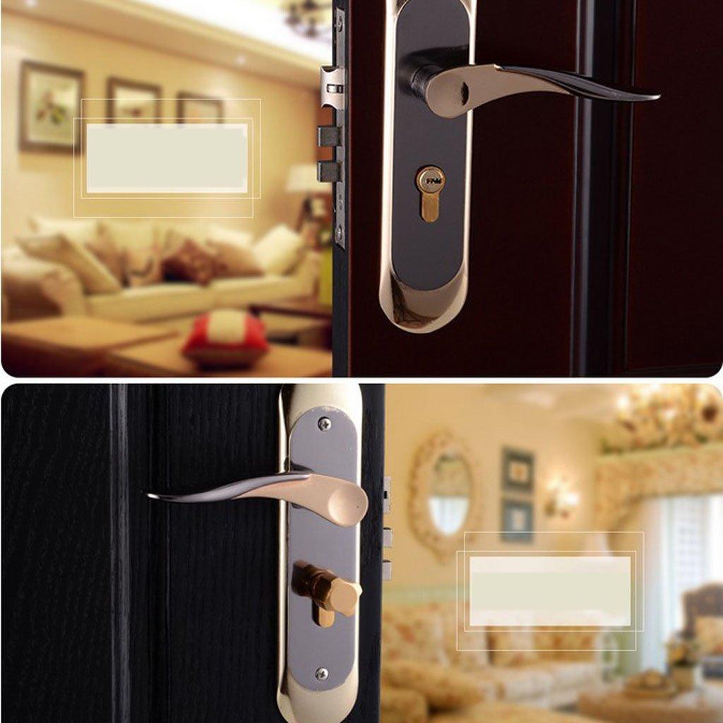 Baoblaze Aluminum Door Handle Sets Lever LATCH LOCK BEDROOM BATHROOMPRIVACY PACKS #5 by Baoblaze (Image #7)