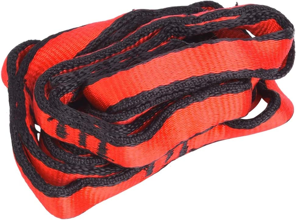 Nylon Chain Rope with Loop Yoga Hammock Hanging Strap Mountaineering Climbing Accessory Red MAGT Mountaineering Strap